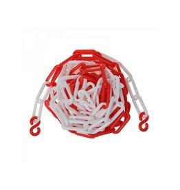 Proplus Afzetketting kunststof rood/wit 5M