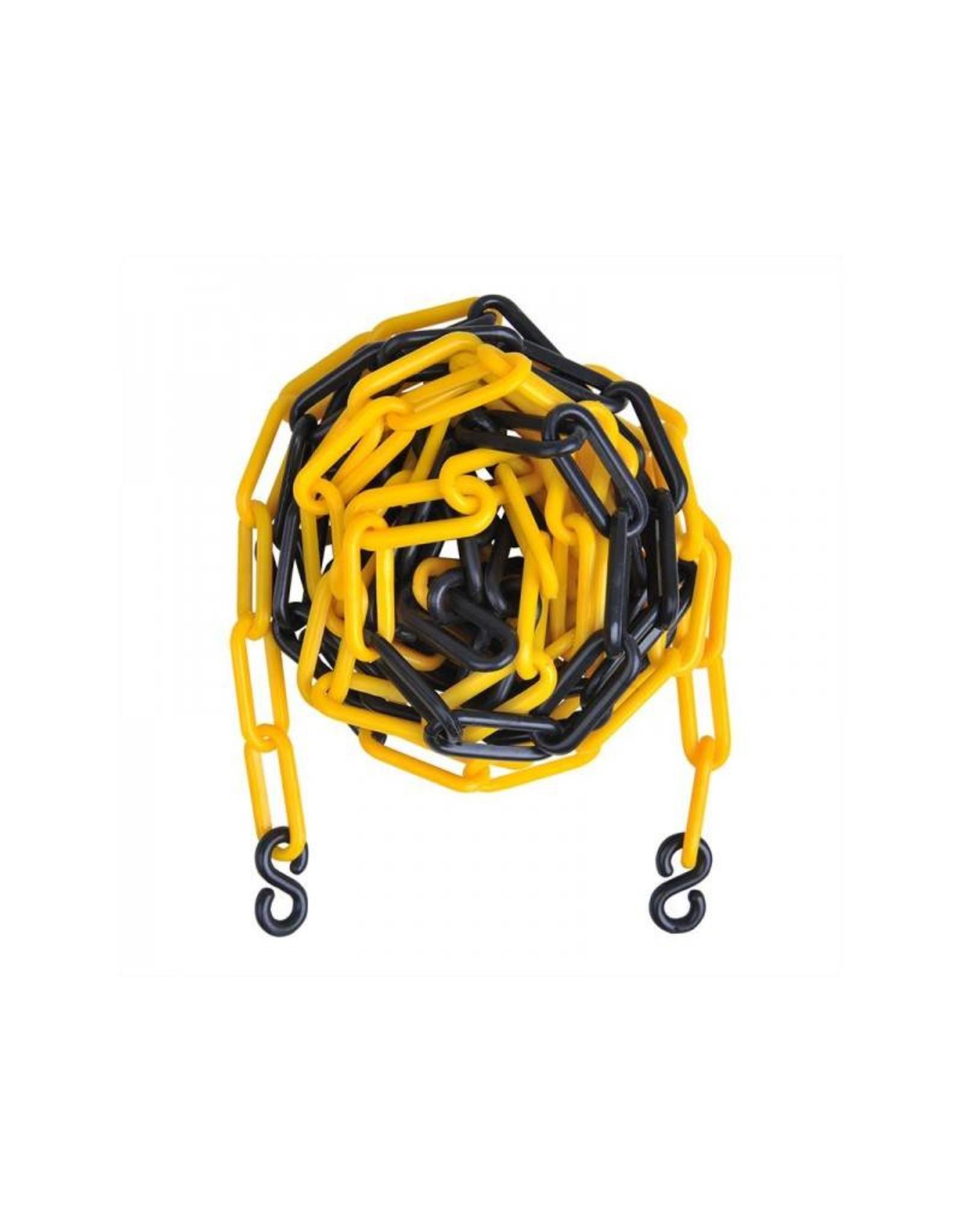 Afzetketting kunststof geel/zwart 5M