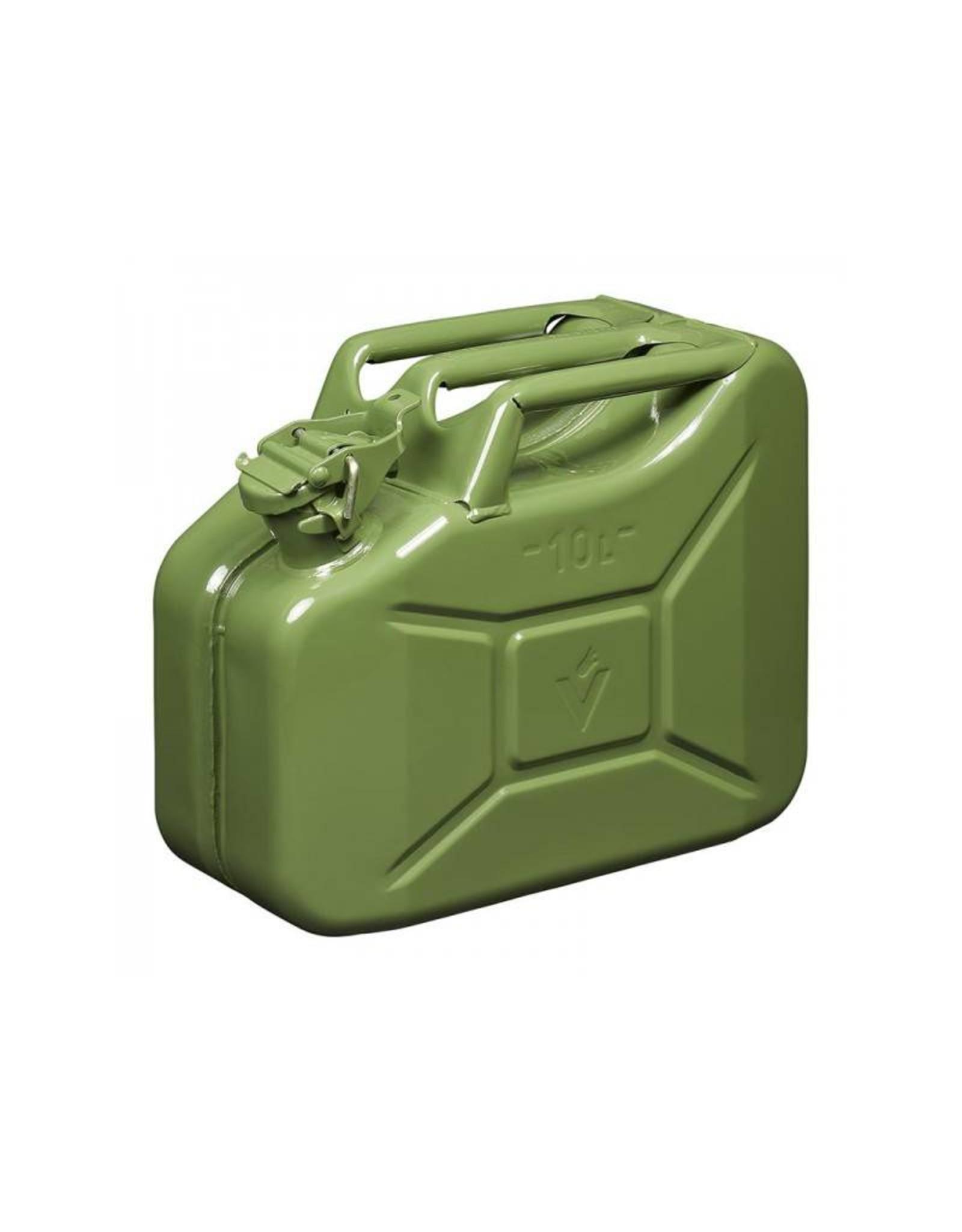 Jerrycan 10L metaal groen UN- & T?V/GS-gekeurd