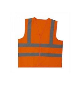 Veiligheidsvest oranje XL met schouderstrepen