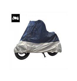 Motorhoes XL blauw/zilver
