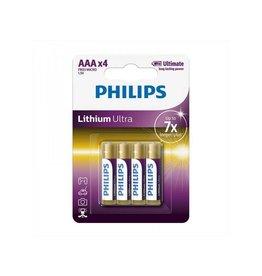 Proplus Philips Lithium Ultra batterijen AAA 4 stuks in blister
