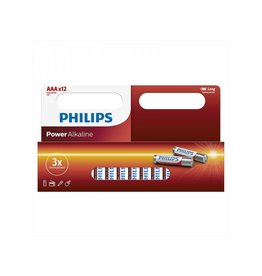 Proplus Philips Power Alkaline batterijen AAA 12 stuks in multi verpakking
