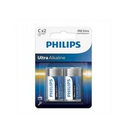 Philips Philips Ultra Alkaline batterijen C 2 stuks in blister