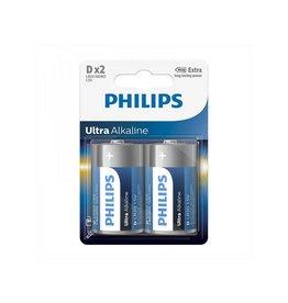 Philips Philips Ultra Alkaline batterijen D 2 stuks in blister