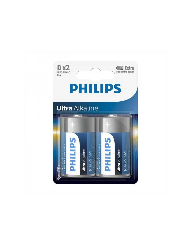 Proplus Philips Ultra Alkaline batterijen D 2 stuks in blister