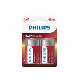 Proplus Philips Power Alkaline batterijen D 2 stuks in blister