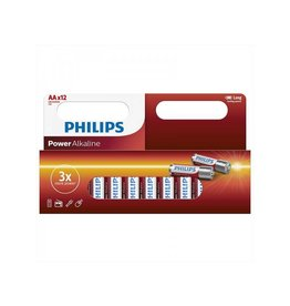 Proplus Philips Power Alkaline batterijen AA 12 stuks in multi verpakking