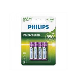 Philips Philips batterijen AAA 950 mAh 4 stuks in blister