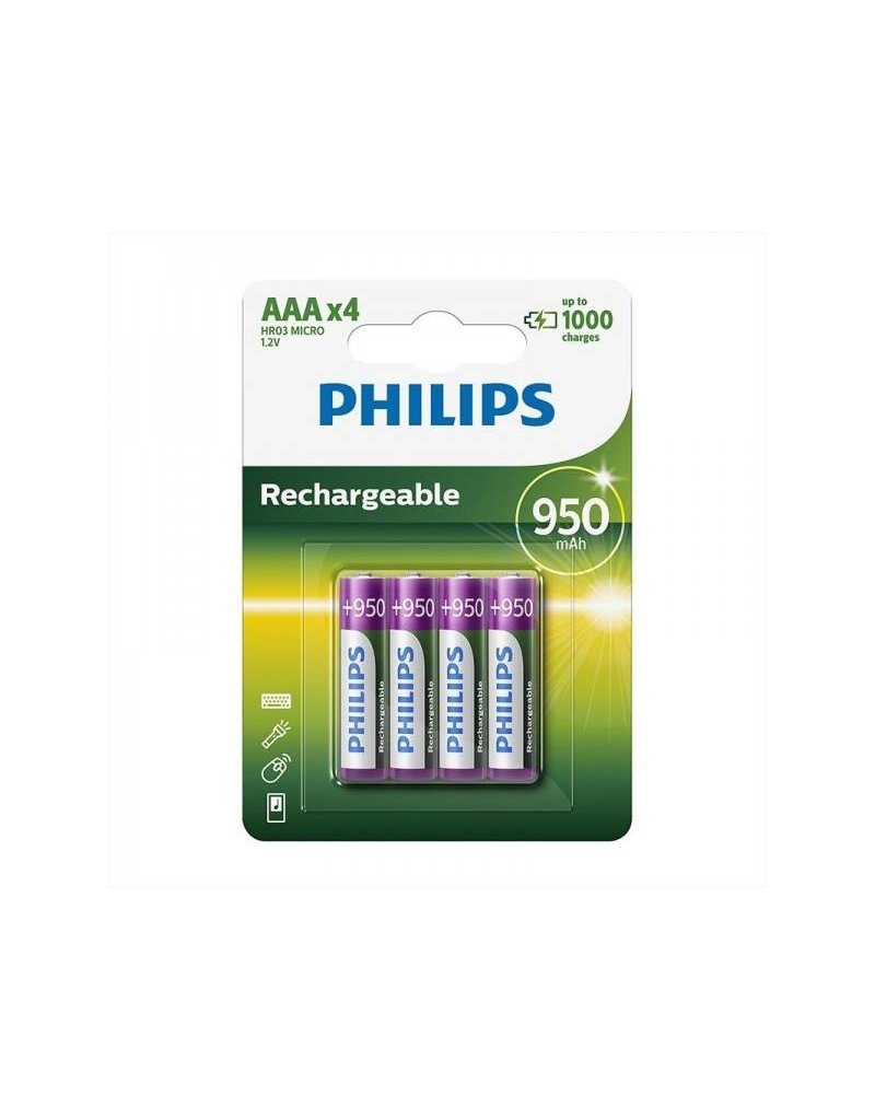 Proplus Philips batterijen AAA 950 mAh 4 stuks in blister