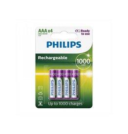 Philips Philips batterijen AAA 1000 mAh Ready To Use 4 stuks in blister