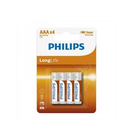 Proplus Philips Longlife batterijen AAA 4 stuks in blister