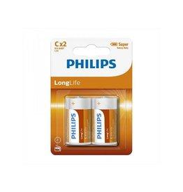 Philips Philips Longlife batterijen C 2 stuks in blister