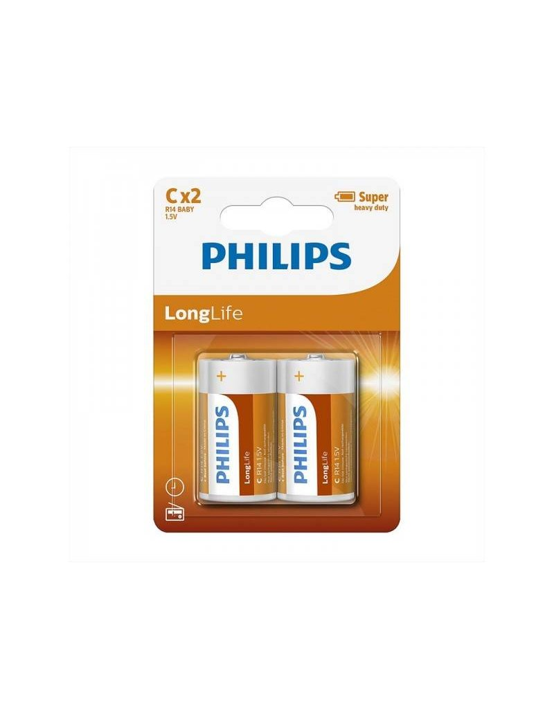 Proplus Philips Longlife batterijen C 2 stuks in blister