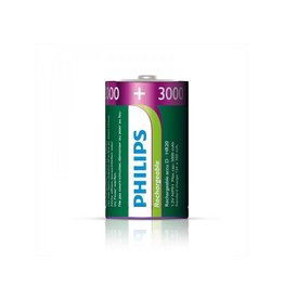 Proplus Philips batterijen D 3000 mAh 2 stuks in blister