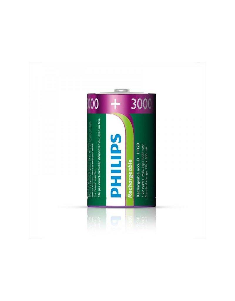 Proplus Philips batterijen D 3000 mAh 2 stuks in blister