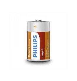 Philips Philips Longlife batterijen D 2 stuks in blister