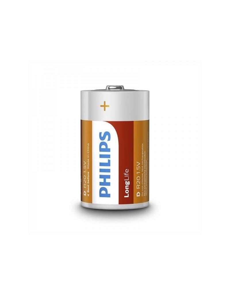 Proplus Philips Longlife batterijen D 2 stuks in blister