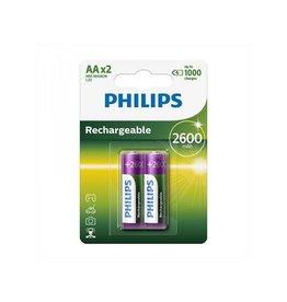 Philips Philips batterijen AA 2600 mAh 2 stuks in blister