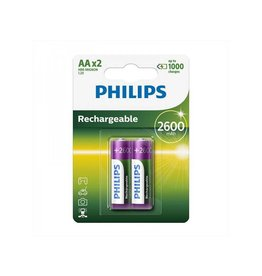 Proplus Philips batterijen AA 2600 mAh 2 stuks in blister