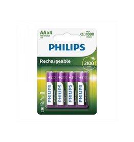 Philips Philips batterijen AA 2100mAh 4 stuks in blister