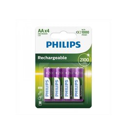 Proplus Philips batterijen AA 2100mAh 4 stuks in blister