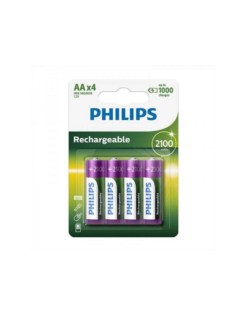 Proplus Philips batterijen AA 2100mAh 4 stuks in blister