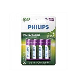 Philips Philips batterijen AA 2500 mAh Ready To Use 4 stuks in blister
