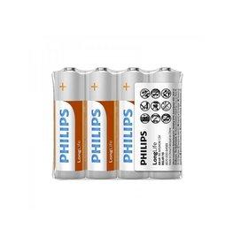Philips Philips Longlife batterijen AA 4 stuks in folie verpakking