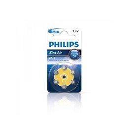 Philips Philips Zinc batterijen 1.4V 6 stuks in blister (gehoorapparaat) geel