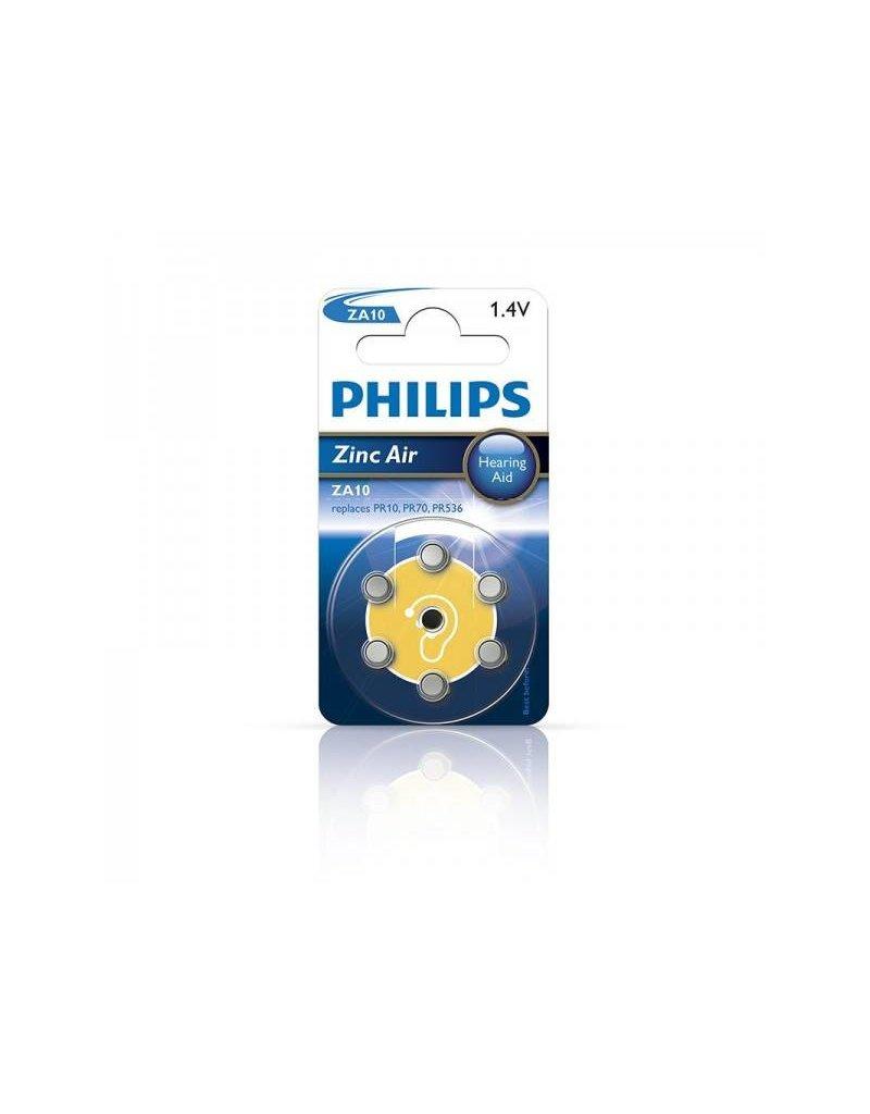 Proplus Philips Zinc batterijen 1.4V 6 stuks in blister (gehoorapparaat) geel