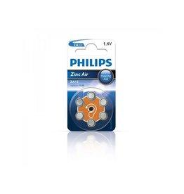 Philips Philips Zinc batterijen 1.4V 6 stuks in blister (gehoorapparaat) oranje