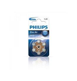 Philips Philips Zinc batterijen 1.4V 6 stuks in blister (gehoorapparaat) bruin