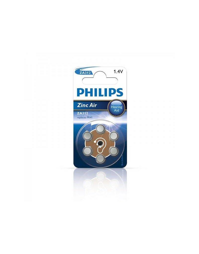 Proplus Philips Zinc batterijen 1.4V 6 stuks in blister (gehoorapparaat) bruin