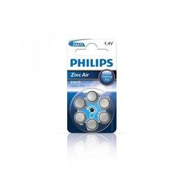 Philips Philips Zinc batterijen 1.4V 6 stuks in blister (gehoorapparaat) blauw