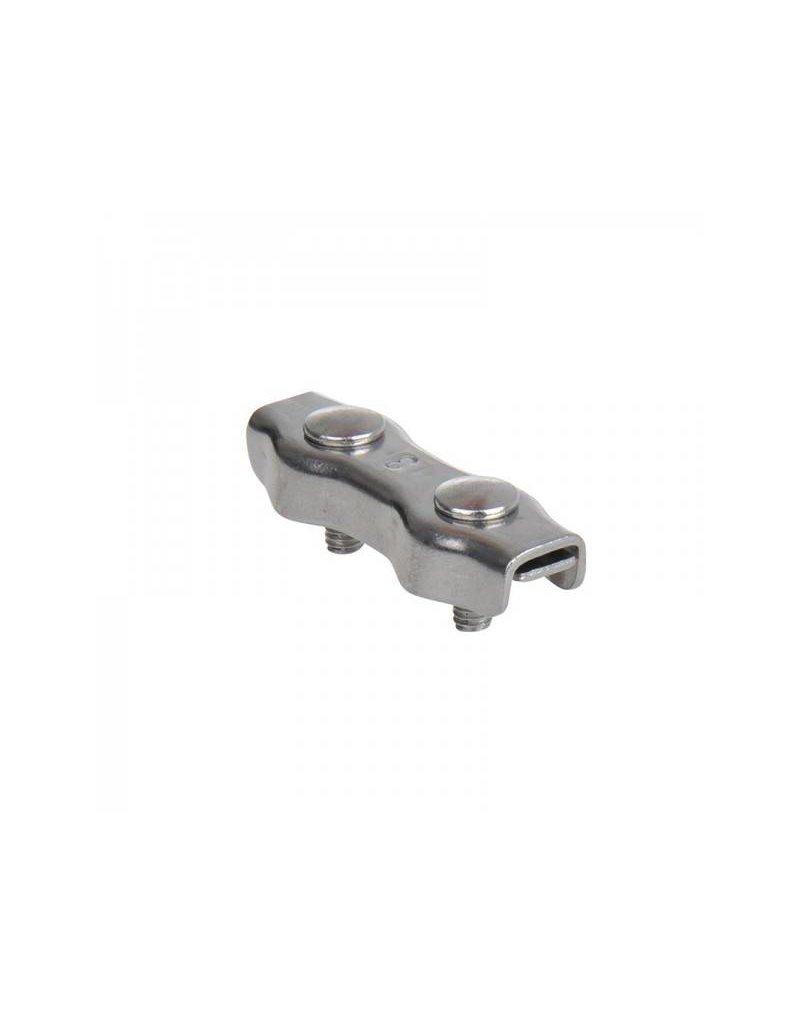 Proplus Duplex staaldraadklem 3mm, A4 RVS AISI 316