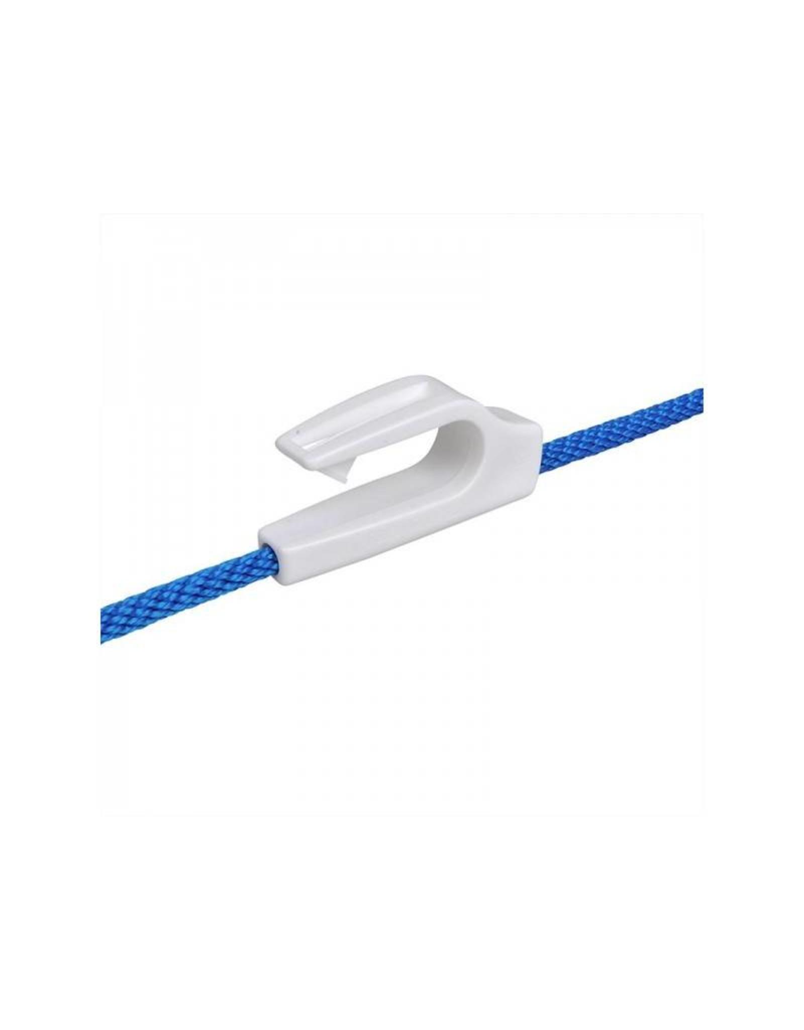 Fenderhaken, kunststof, voor railing 20-25mm, wit