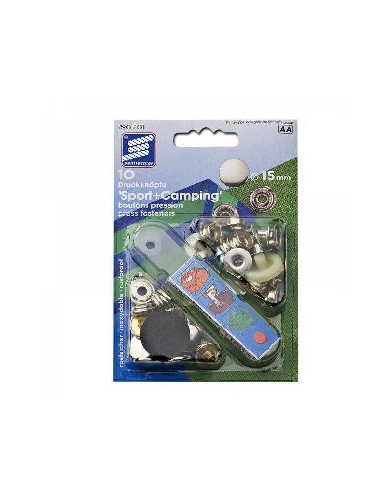 Proplus Drukknopen (stof), 15mm, 10 stuks in blister