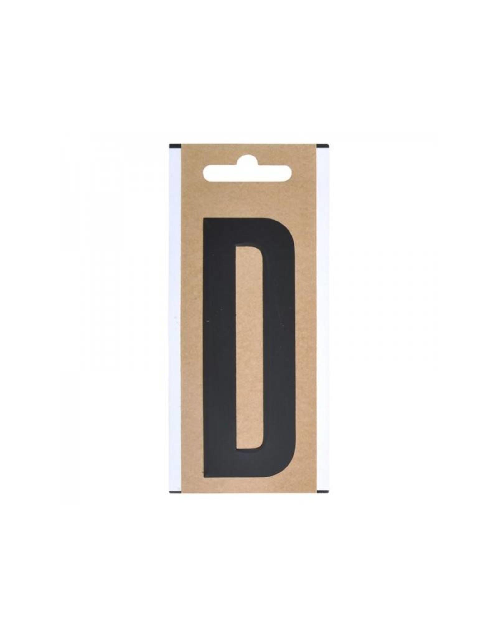 """Letter etiket """" D """" 10cm"""