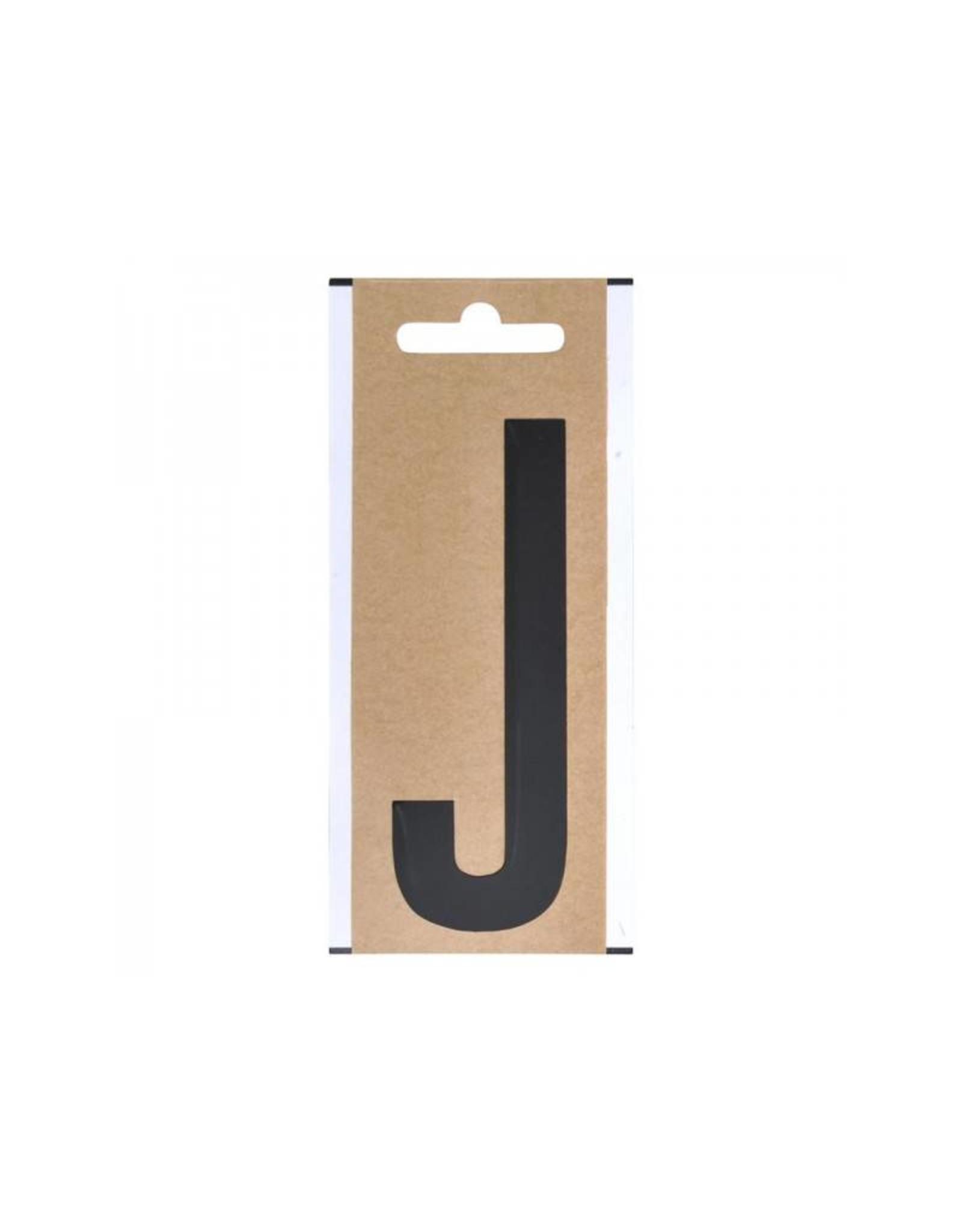 """Letter etiket """" J """" 10cm"""