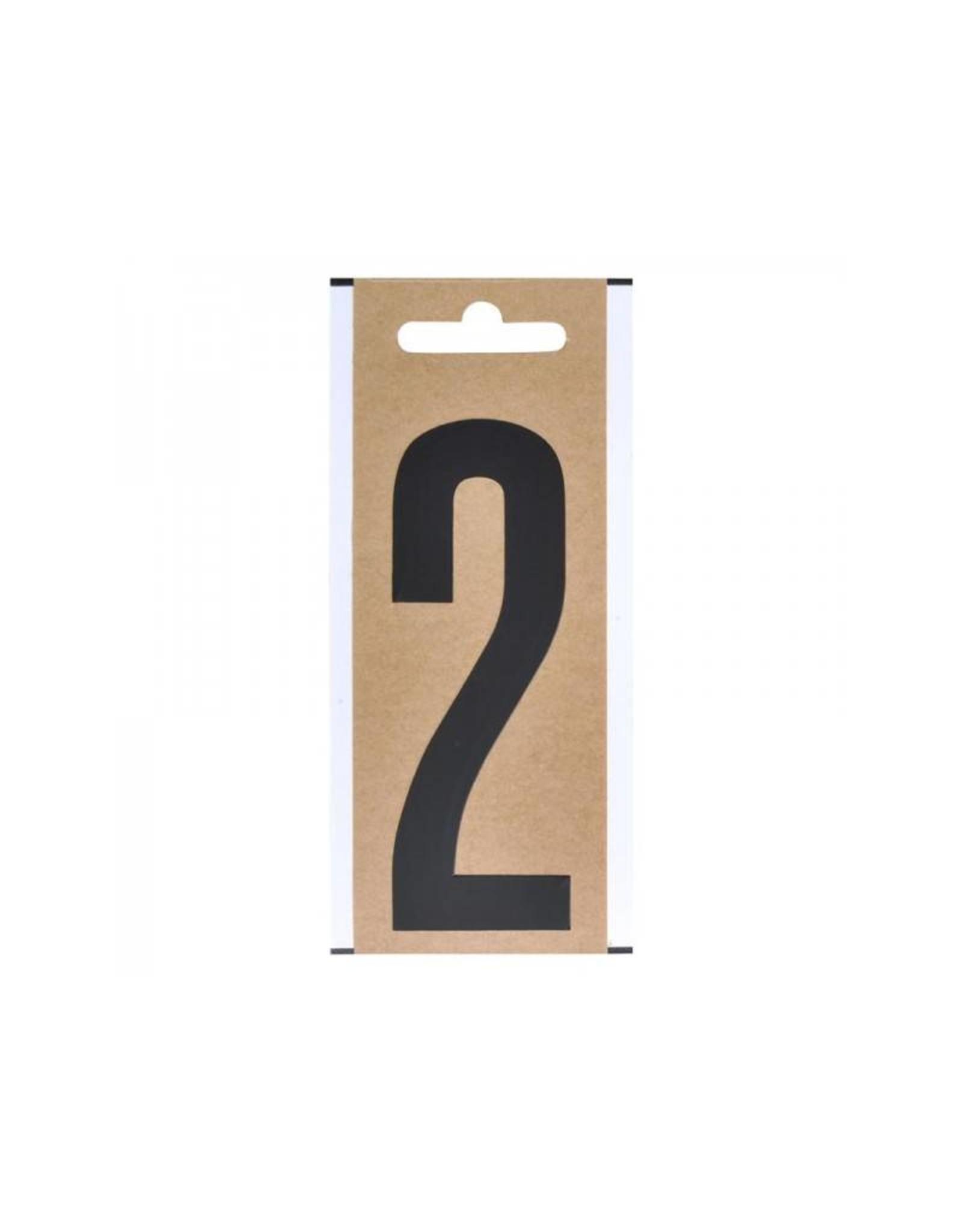 """Cijfer etiket """" 2 """" 10cm"""