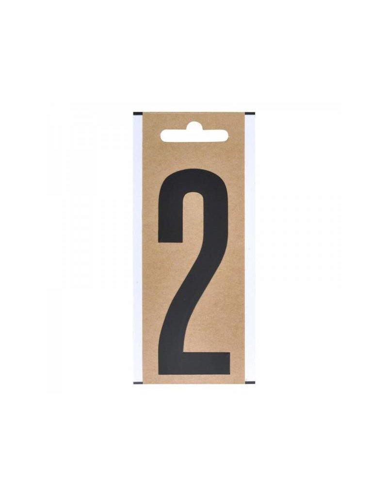 """Proplus Cijfer etiket """" 2 """" 10cm"""