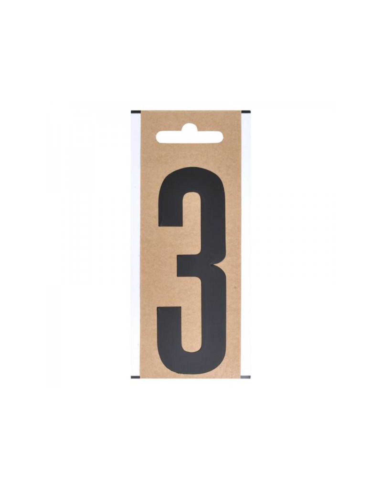 """Cijfer etiket """" 3 """" 10cm"""