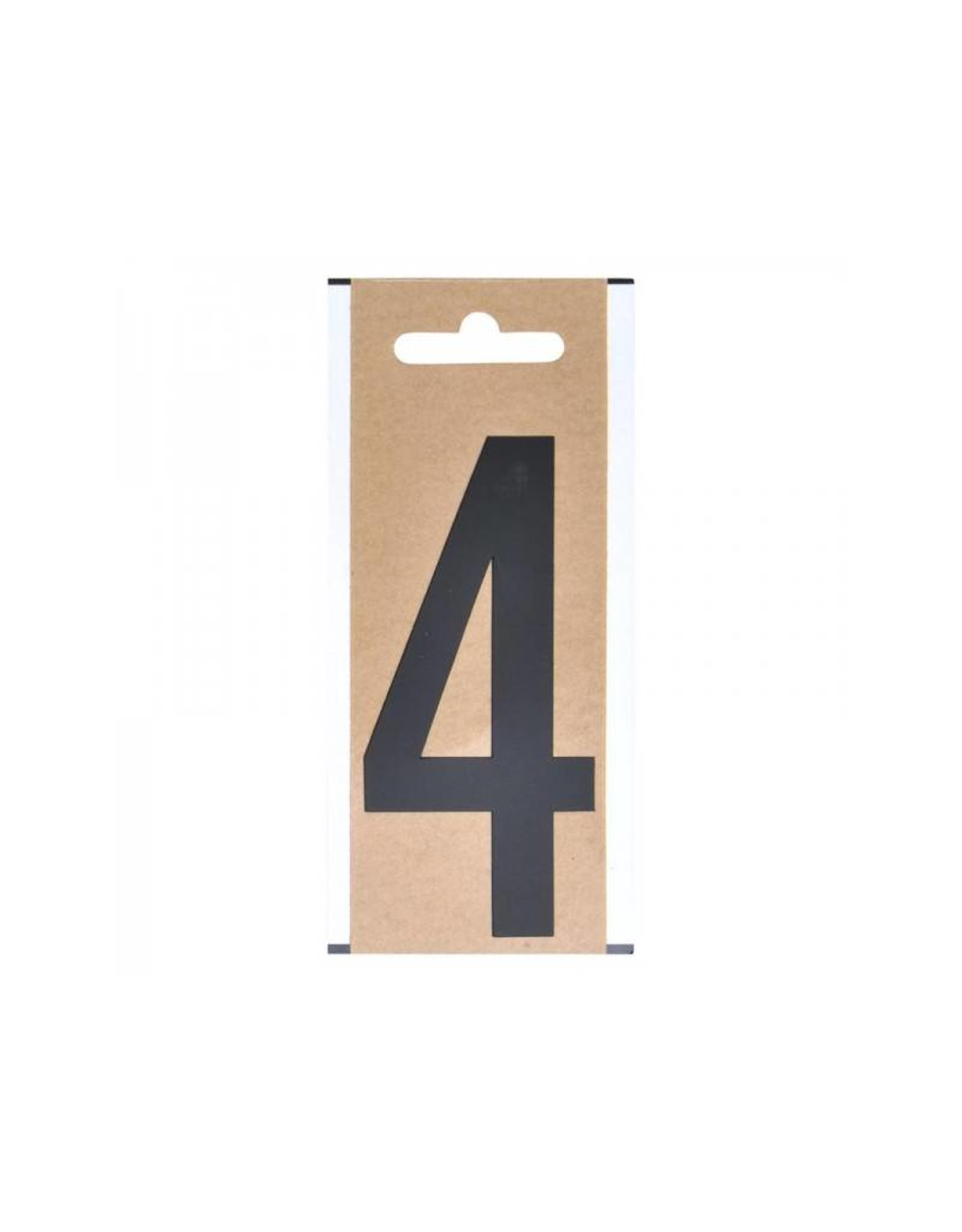 """Cijfer etiket """" 4 """" 10cm"""