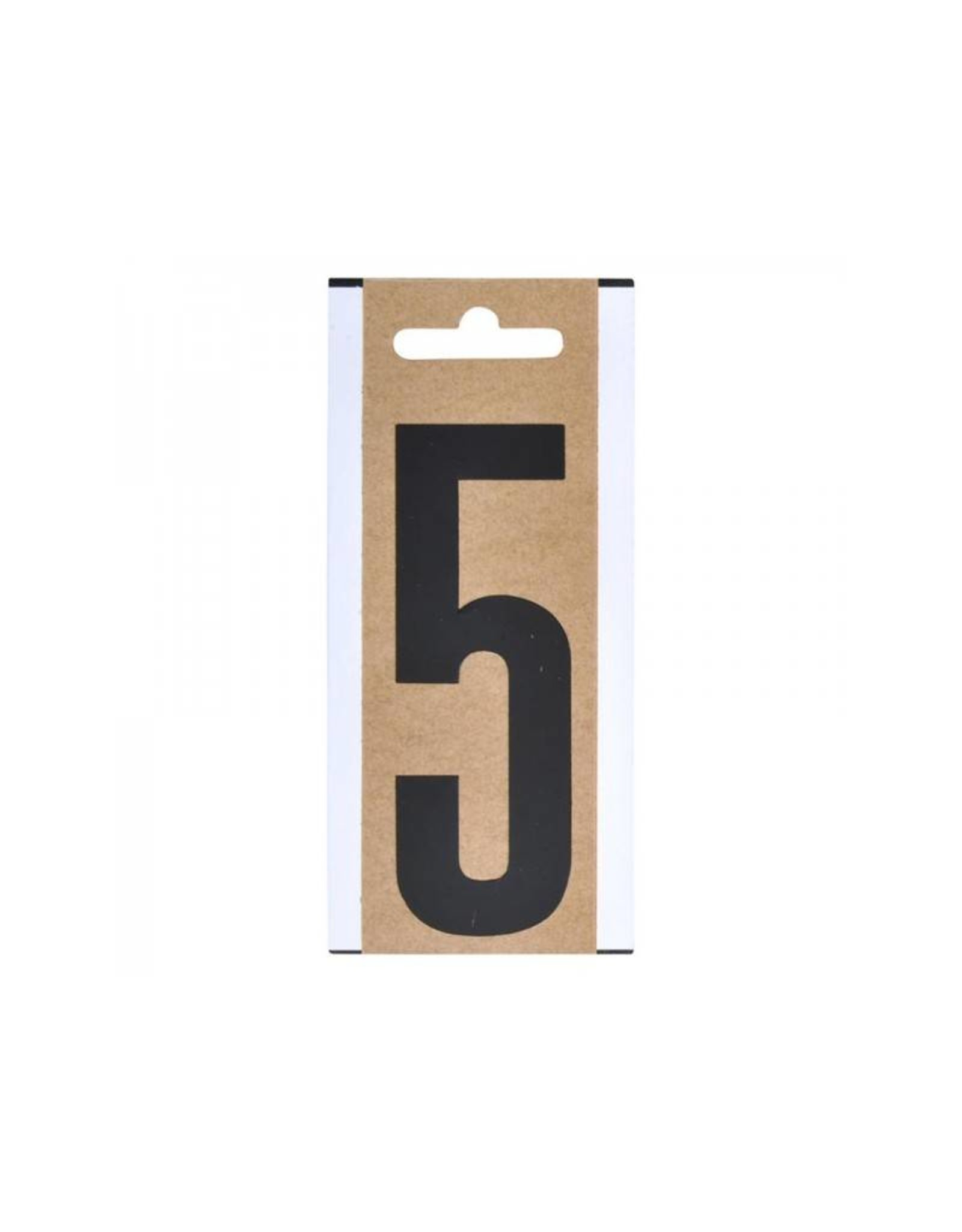 """Cijfer etiket """" 5 """" 10cm"""