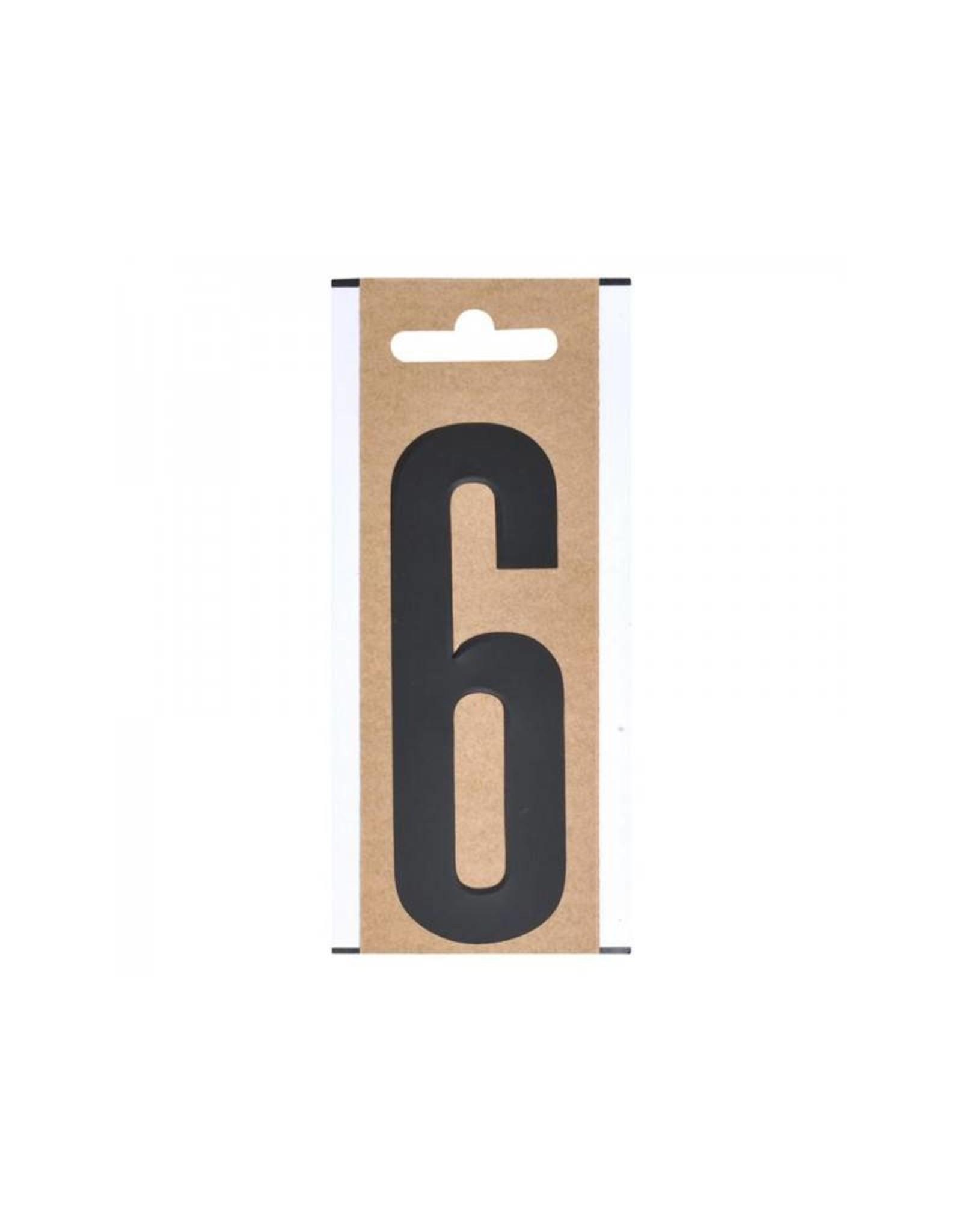 """Cijfer etiket """" 6 """" 10cm"""