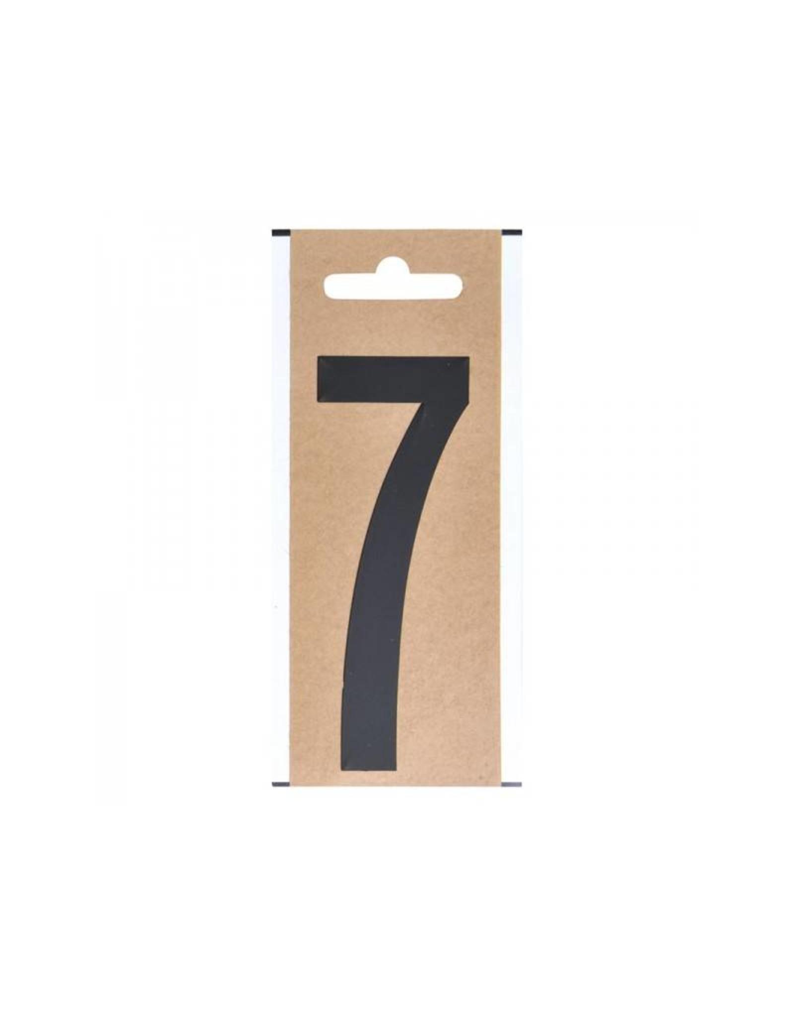 """Cijfer etiket """" 7 """" 10cm"""