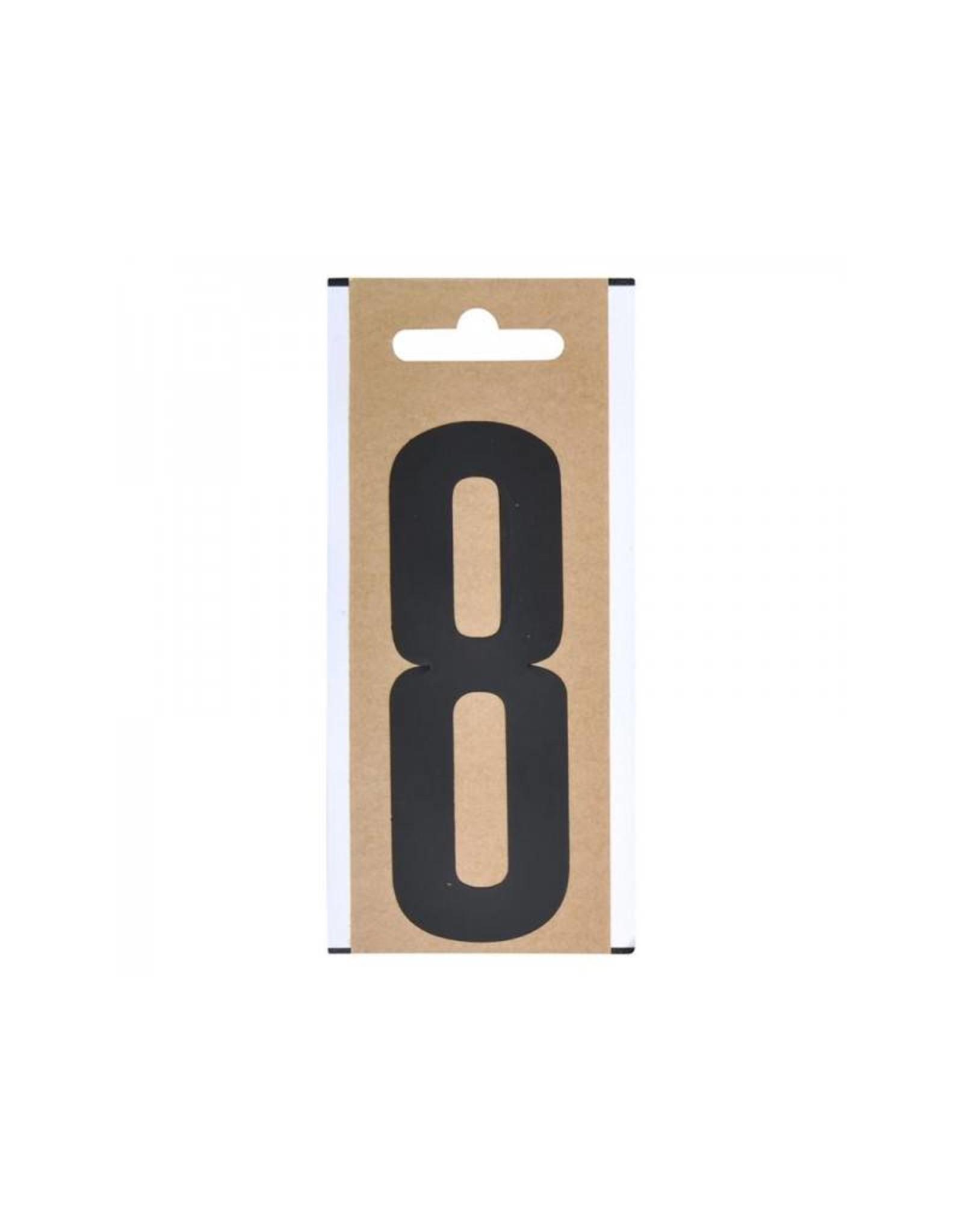 """Cijfer etiket """" 8 """" 10cm"""
