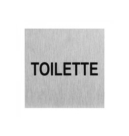 """Aluminium deurbordje """" Toilette """" 60x60mm"""