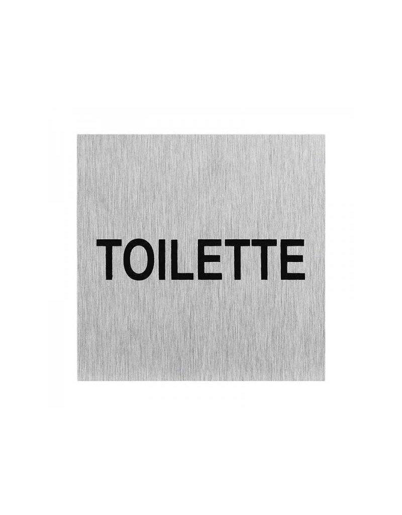 """Proplus Aluminium deurbordje """" Toilette """" 60x60mm"""